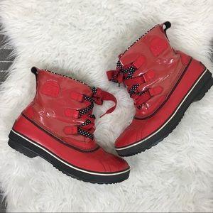 Sorel Tivoli waterproof polka dot boots